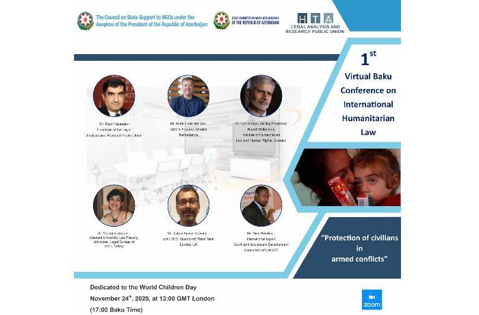 Paytaxtda Beynəlxalq Bakı Virtual Humanitar Hüquq Konfransı keçirildi