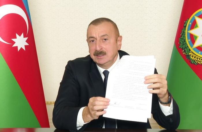 "Prezident: ""Paşinyan, harada imzalamısan sən bu kapitulyasiya aktını?"""