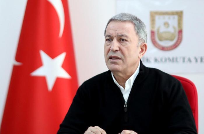 """Hulusi Akar: """"Türkiyə, Azərbaycan və Pakistan Qarabağ məsələsində bir ürək oldu"""""""