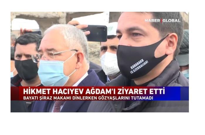 """""""Bayatı-Şiraz""""ı dinləyən Hikmət Hacıyev göz yaşlarına hakim ola bilmədi — VİDEO"""