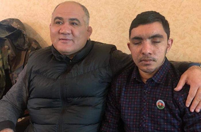 Firdovsi Umudov iki gözünü itirən qazini ziyarət etdi — VİDEO