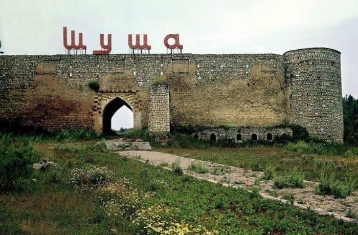 Şuşa qalasında böyük ölçülü Azərbaycan bayrağı — FOTO