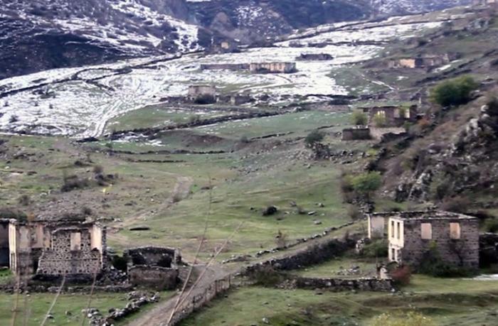 Laçın rayonunun Hüsülü və Malıbəy kəndlərinin videogörüntüləri
