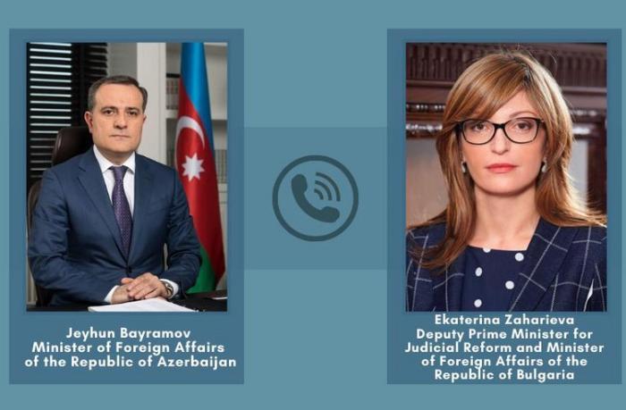 Ceyhun Bayramov bolqar həmkarı ilə telefonla danışdı