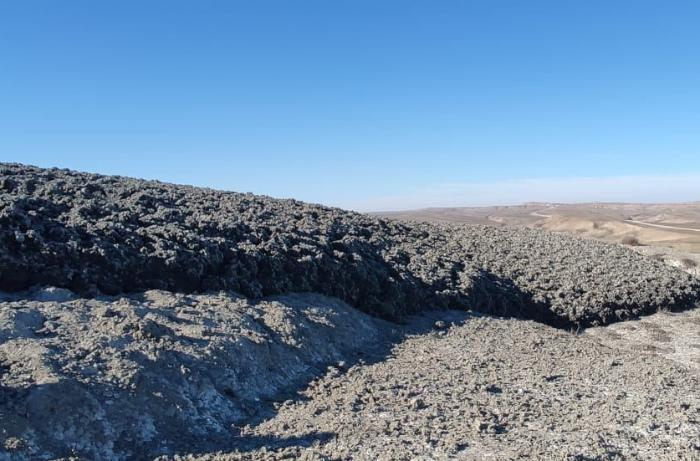 Palçıq vulkanının püskürməsi ilə bağlı açıqlama — FOTO