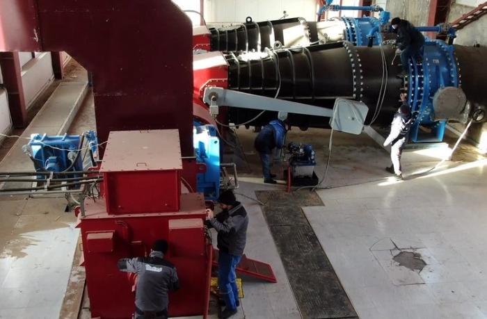 Laçındakı su elektrik stansiyası yenidən qurulur — VİDEO