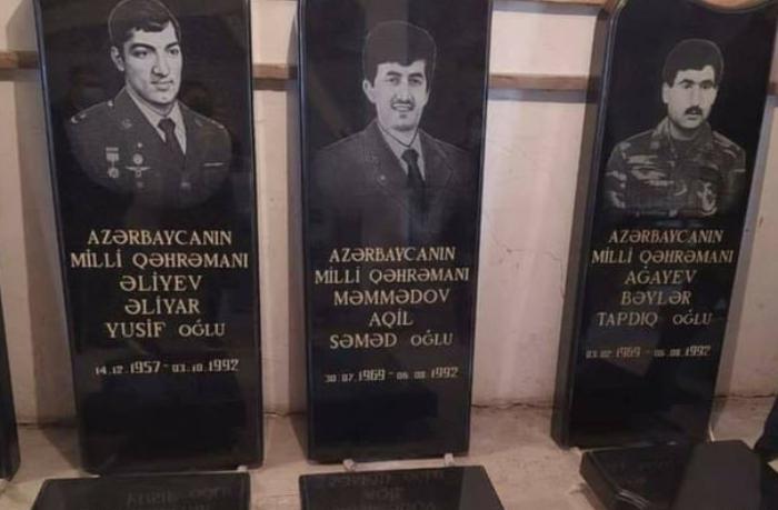 Azərbaycanın beş Milli Qəhrəmanının məzar daşları hazırlandı