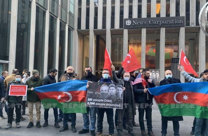 Azərbaycan və Türkiyə icmaları ABŞ-da birgə etiraz aksiyası keçirdilər — FOTOLAR