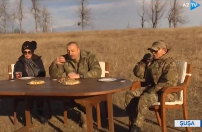 Prezident Cıdır düzündə çay içdi — VİDEO