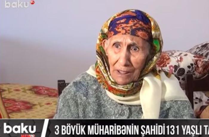 Üç əsrin şahidi 131 yaşlı Tamam Əzizova — VİDEO