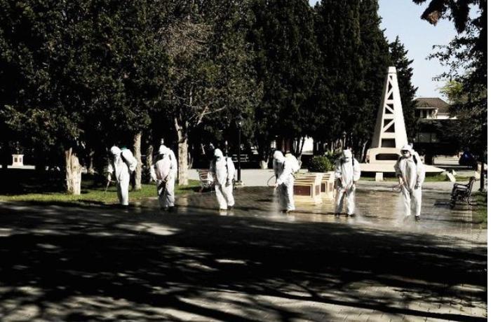 Bakıda 554 küçə dezinfeksiya edildi — FOTOLAR
