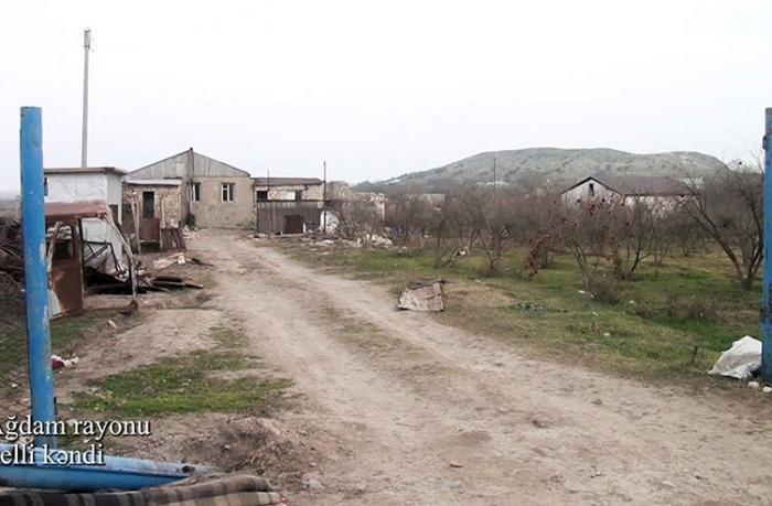 Ağdamın Şelli kəndindən görüntülər — VİDEO