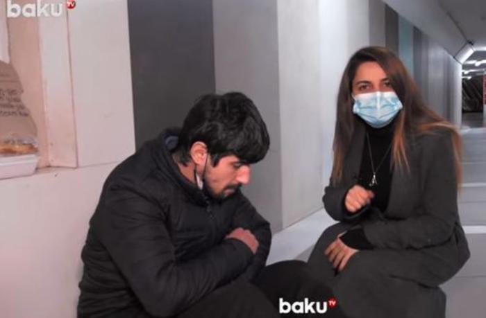 """Kimsəsiz Orxan: """"İki ildir ki, küçələrdə yatıram"""" — VİDEO"""