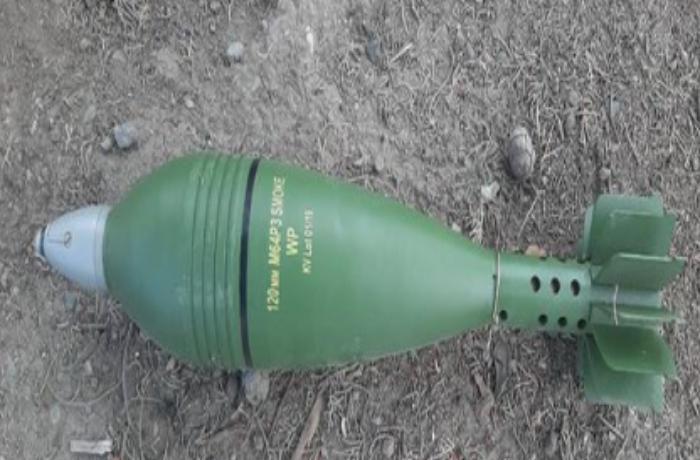Cəbrayılda ağ fosforlu mərmi aşkarlandı — FOTO