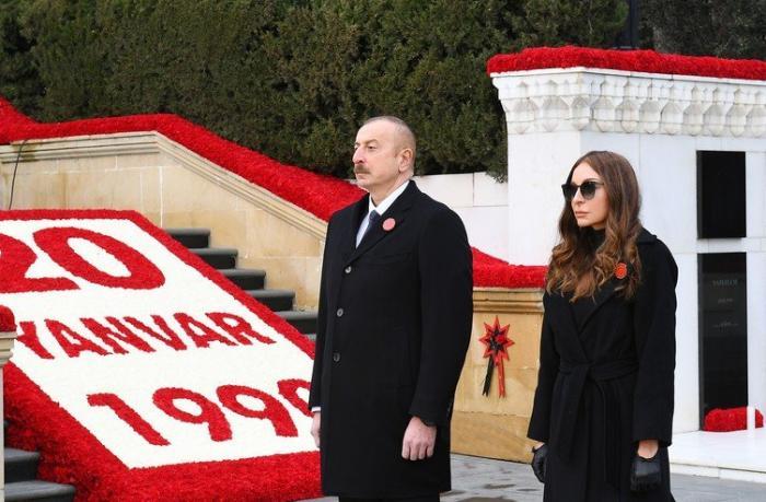 İlham Əliyev və Mehriban Əliyeva Şəhidlər xiyabanını ziyarət etdilər — FOTOLAR