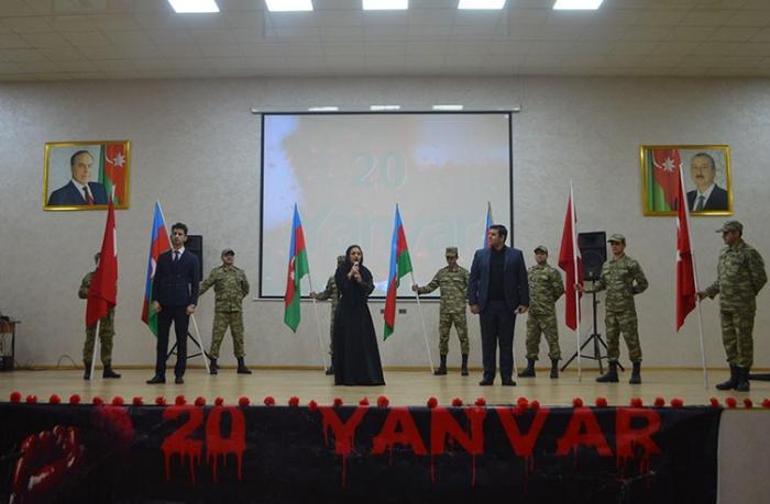 20 Yanvar faciəsinin ildönümü Azərbaycan Ordusunda qeyd edildi — VİDEO