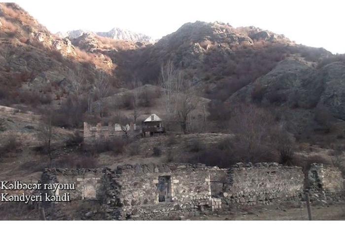 Kəlbəcərin Kəndyeri kəndi — VİDEO