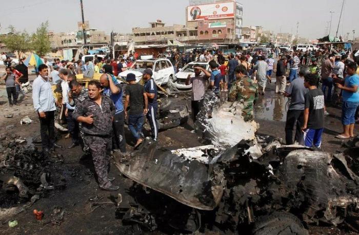 Bağdadda partlayış: 21 nəfər öldü, 44 nəfər yaralandı