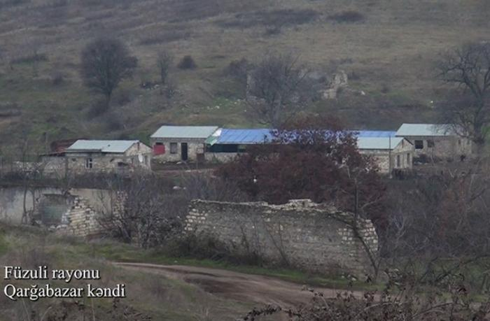 Füzulinin Qarğabazar kəndindən görüntülər — VİDEO