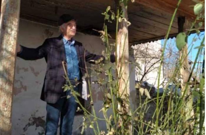 Polad Bülbüloğlu atasının Şuşadakı evində — FOTOLAR