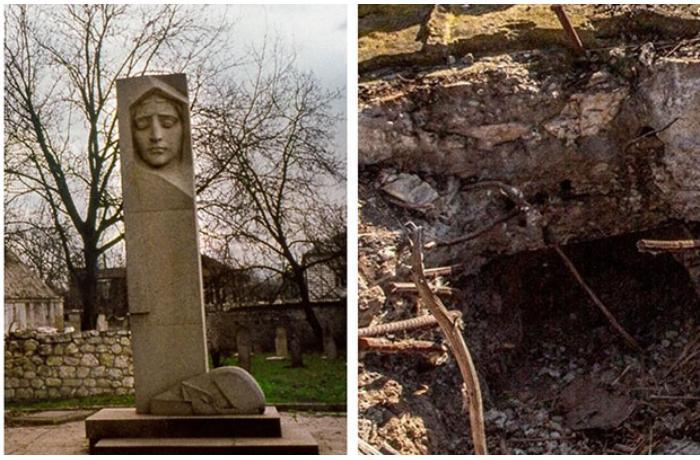 Ermənilər Natavanın məzarını dağıdıb sümüklərini aparıblar — FOTOLAR