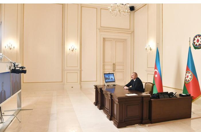 Prezident Rəşad Nəbiyevi videoformatda qəbul etdi