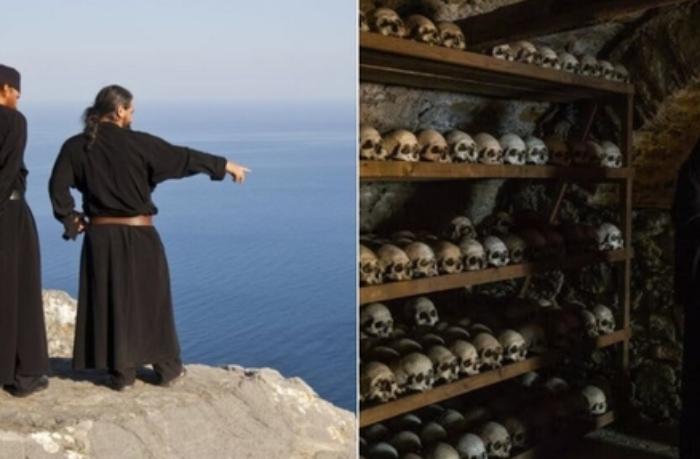 Qadınlara girişin qadağan edildiyi, ölən rahiblərin sümüklərinin şərabla yuyulduğu ada haqda ŞOK FAKTLAR