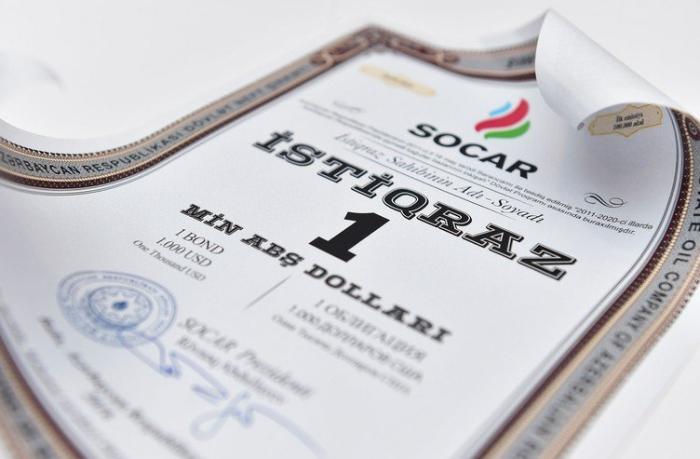 SOCAR investorlara 20 milyon dollar faiz ödənişi etdi