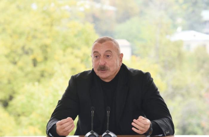 """İlham Əliyev: """"18 oktyabrı böyük təmtəraqla qeyd etmək tamamilə yersizdir..."""""""