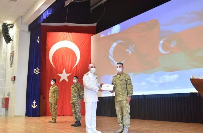 Türkiyədə kurs bitirən Azərbaycan hərbi dənizçilərinin buraxılış mərasimi keçirildi — FOTO