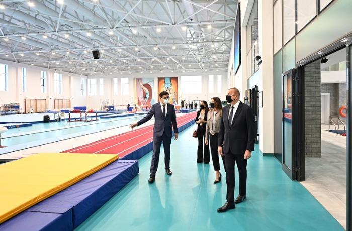 Prezident Milli Gimnastika Arenasının yeni məşq binasında yaradılan şəraitlə tanış oldu — YENİLƏNİB