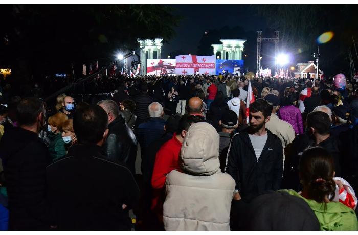 Saakaşvilinin tərəfdarları Batumidə aksiya keçirdi