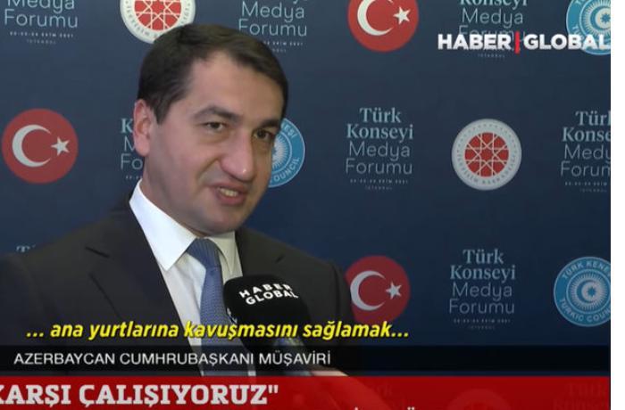 """Hikmət Hacıyev """"Haber Global""""ın efirindən İrana mesaj verdi — VİDEO"""