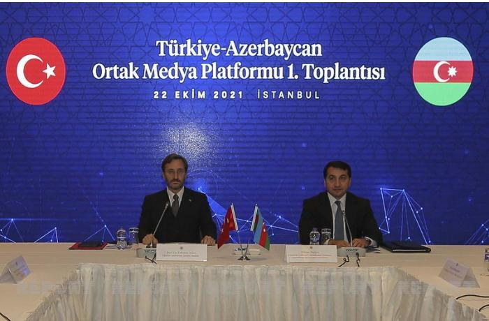İstanbulda Türkiyə-Azərbaycan Ortaq Media Platformunun ilk toplantısı keçirildi — FOTOLAR