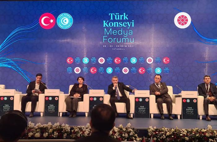 """Türk Şurasının mediaforumunda """"Birlikdən doğan Zəfər: Qarabağ"""" mövzusunda panel keçirildi — FOTO"""