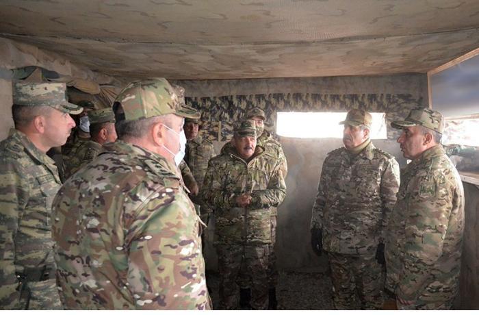 Zakir Həsənov Azərbaycan Ordusunun Laçındakı təlimini izlədi, tapşırıqlar verdi — VİDEO