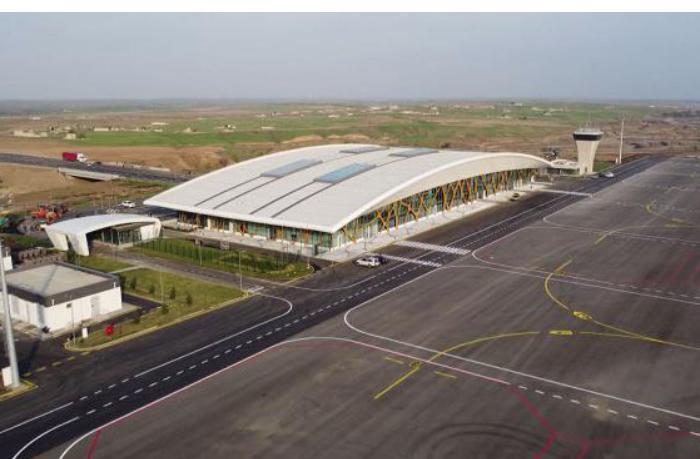 Füzuli aeroportundan son görüntülər — VİDEO