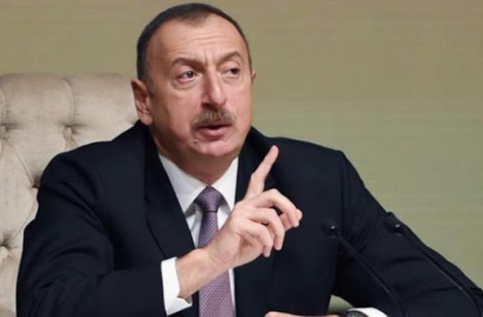 """İlham Əliyev: """"Nə status var, nə Dağlıq Qarabağ"""""""