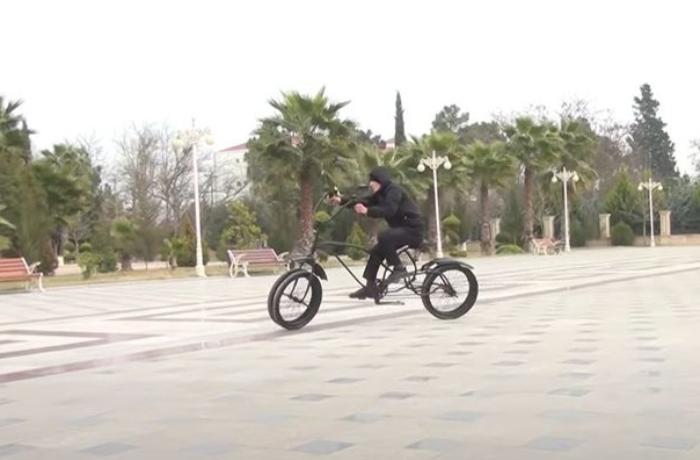 Salyanda qeyri-adi velosiped — VİDEO