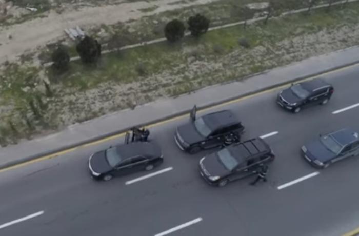"""Polis """"Range Rover""""i saxladı, 48 kq narkotik götürüldü — ŞOK ƏMƏLİYYAT (VİDEO)"""