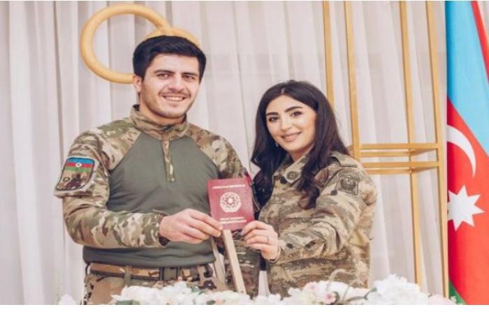 Qazimiz müharibədə əsgərlərə kömək edən tibb bacısı ilə nikah bağladı — FOTOLAR