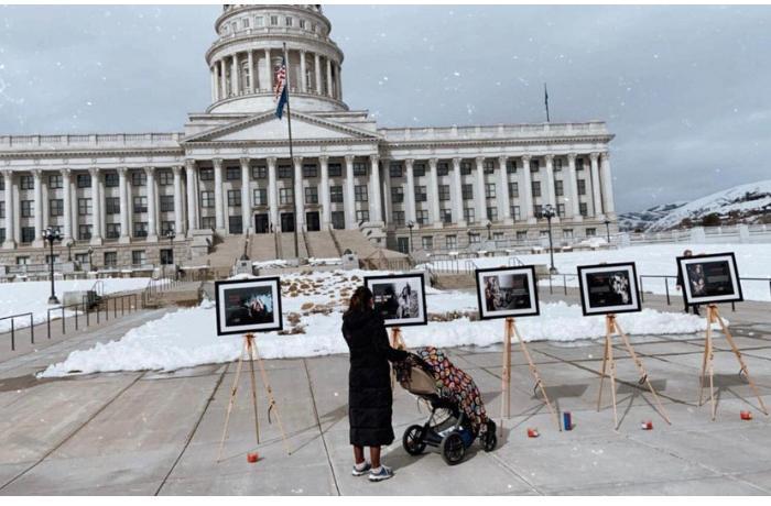 Kapitol binası qarşısında Xocalıya həsr olunan sərgi açıldı — FOTOLAR