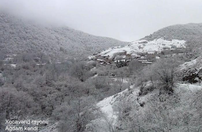 Xocavəndin Ağdam kəndindən görüntülər — VİDEO