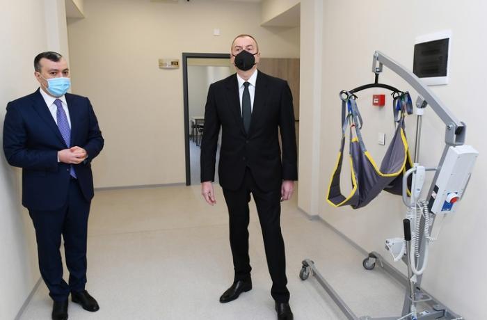 İlham Əliyev Şağan Reabilitasiya Pansionatının açılışında iştirak etdi — FOTOLAR