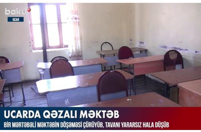 Ucarda qəzalı məktəb şagirdlərin həyatı üçün təhlükə yaradır — VİDEO
