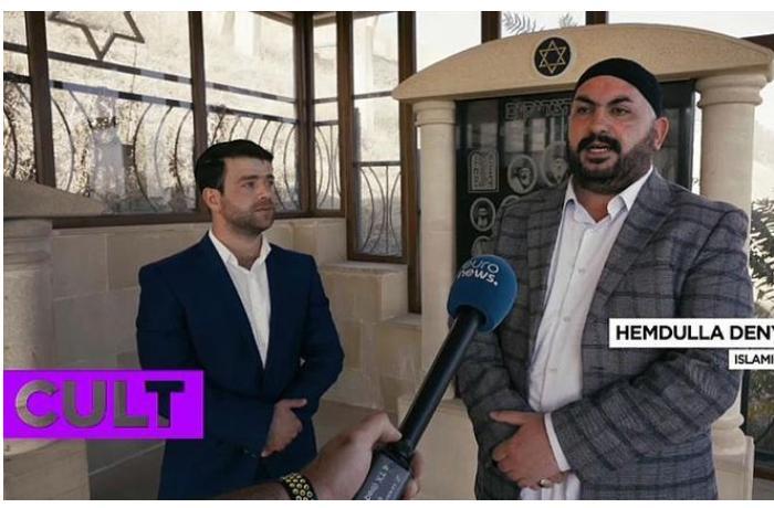 """""""Euronews"""": Azərbaycanda əsas din İslam olduğu halda, Yəhudilik və digər inanclara da insanlar etiqad edir"""