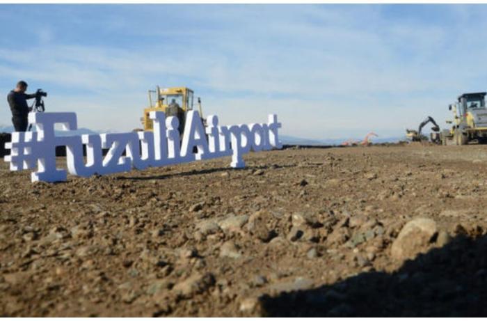 RBK telekanalı Füzulidə tikilən beynəlxalq hava limanı haqda süjet hazırladı — VİDEO