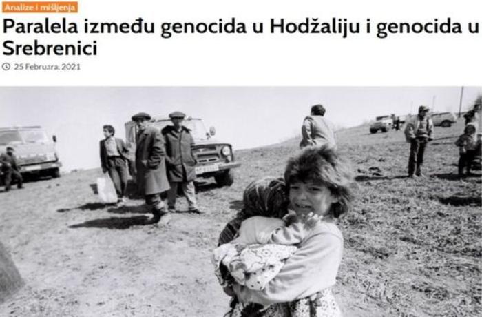 Bosniyalı jurnalist Xocalı və Srebrenitsa soyqırımları paralel təhlil etdi