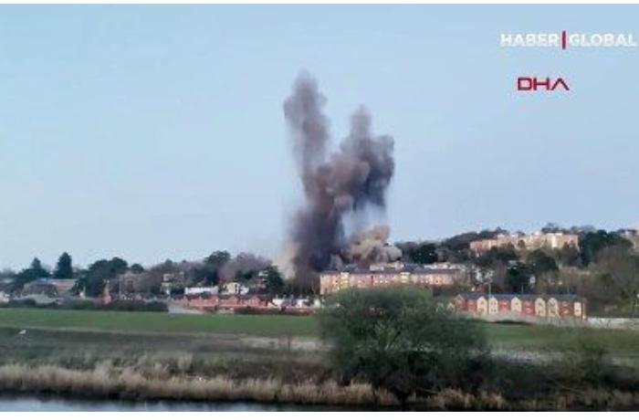 Britaniyada II Dünya müharibəsindən qalmış bomba partladıldı — ANBAAN VİDEO