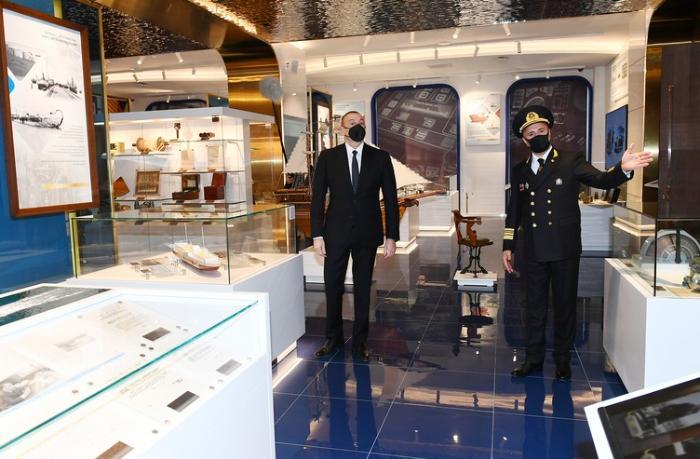 İlham Əliyev Xəzər Dəniz Gəmiçiliyinin yeni inzibati binasının açılışını etdi — YENİLƏNİB